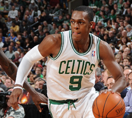 Rajon Rondo has improved his 3 point shot, and other things. Courtesy: www.hoops-nation.com